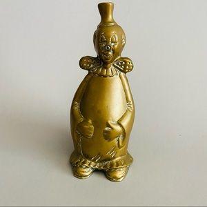 Vintage Brass Clown Piggy Bank.